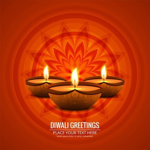 Vackert hälsningskort för festival av diwali firande