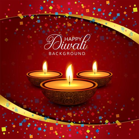 Mooie Gelukkige Diwali decoratieve achtergrond vector