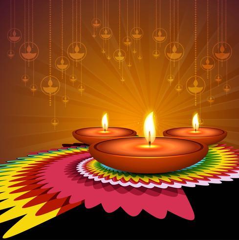 Vacker Glad Diwali dekorativ bakgrunds vektor