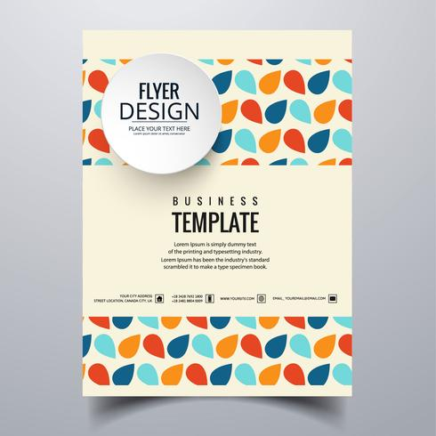 vector-abstract-stylish-buisness-brochure-card-template-design Template Cover Letter English Stationery Totem on