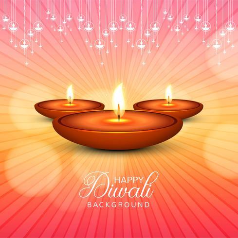 Vacker Glad Diwali dekorativ firande bakgrund vektor