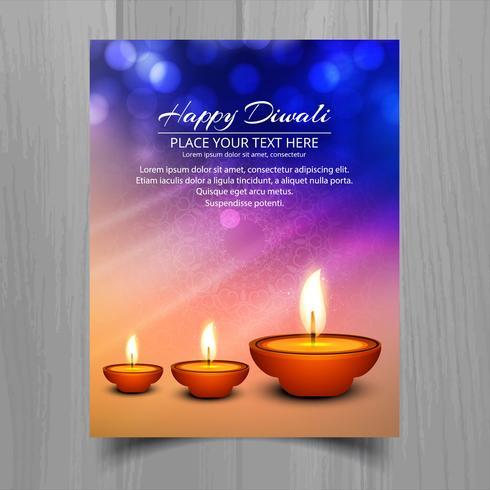 Glad diwali diya oljelampa festival broschyr mall design