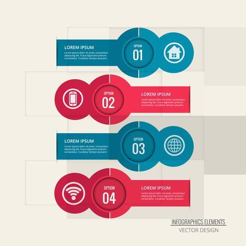 Abstracte creatieve infographic achtergrond