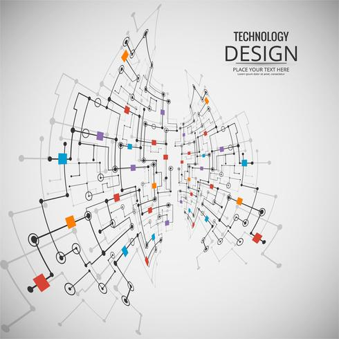 Abstracte technologie achtergrondontwerpillustratie