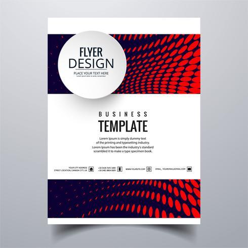 Abstrakt stilfull design broschyr kort mall design