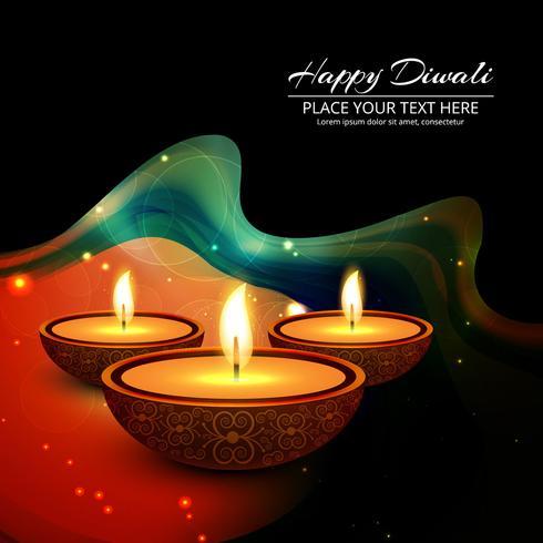 Ejemplo feliz del fondo del festival de la lámpara de aceite del diya de Diwali