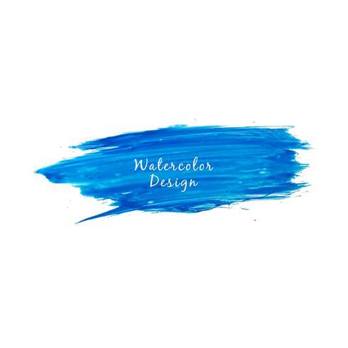 Modern blå akvarellslagdesign