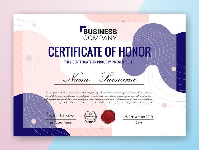 Diseño de plantilla de certificado profesional multipropósito vector