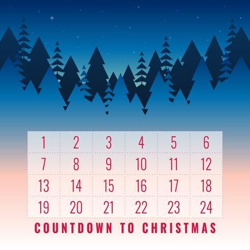 Advent Julkalender Utskriftsvärd hälsningskortuppsättning