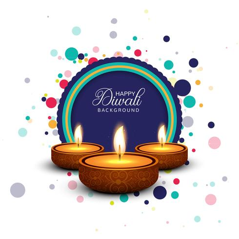 Festival de Diwali tarjeta de fondo plantilla de diseño