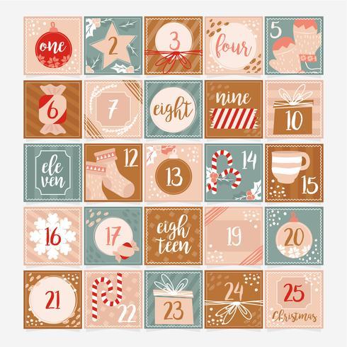 Vector Advent Calendar Template