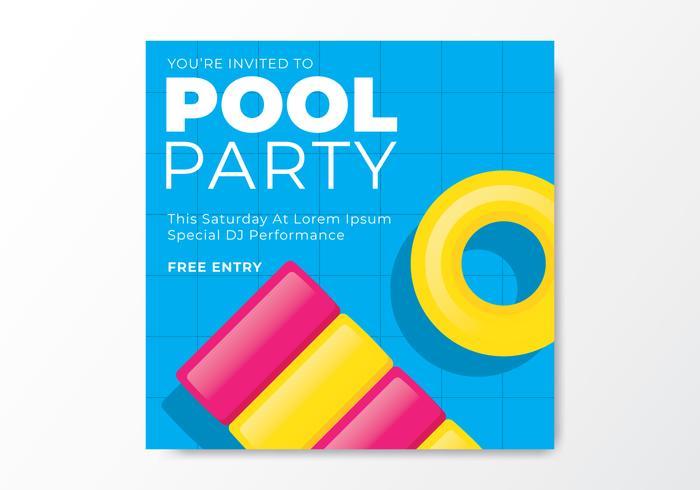 Pool Party Einladungskarte