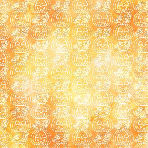 Vector Halloween Pumpkin Seamless Pattern