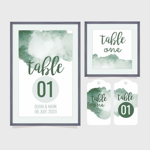 Vector Wedding Table Number Template - Download Free Vector Art ...