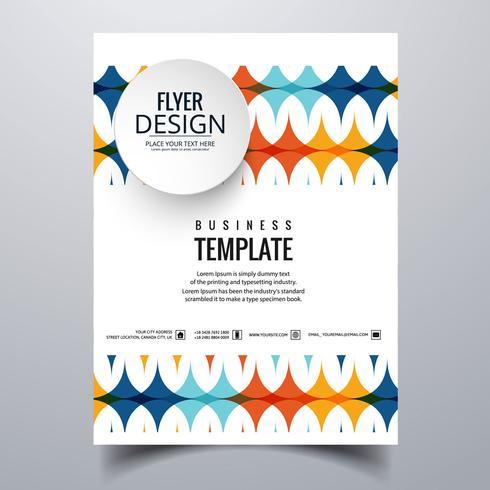 Design elegante modello di scheda brochure aziendale elegante