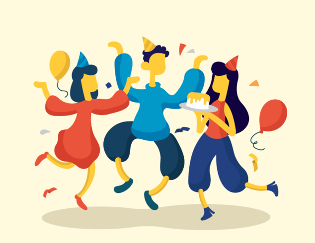 Partijen en Bijeenkomsten Vector