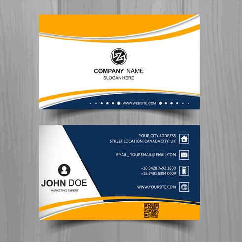 Abstract stylish wave business card template design download free abstract stylish wave business card template design fbccfo Images