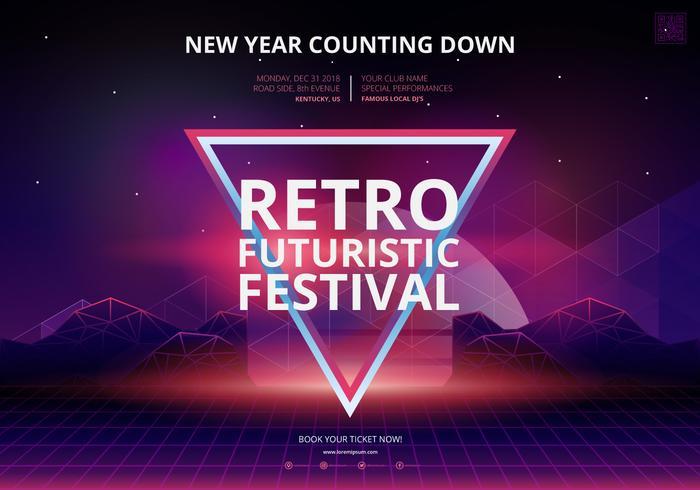 Retro Party und Versammlung Poster Vorlage vektor