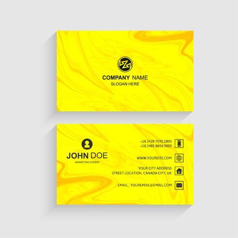 Elegante tarjeta de visita creativa conjunto de vectores de plantilla