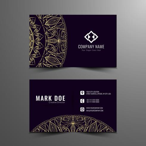 Abstract artistic business card template  vector