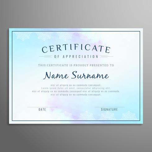 Plantilla de diseño abstracto moderno certificado