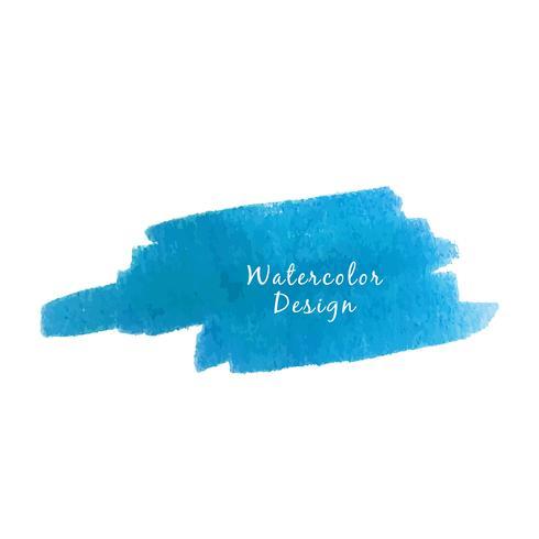 Abstrakter blauer Aquarellhintergrund vektor