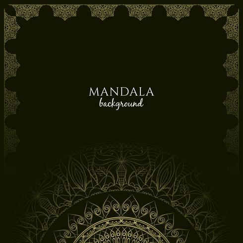 Abstracte stijlvolle luxe mandala achtergrond vector