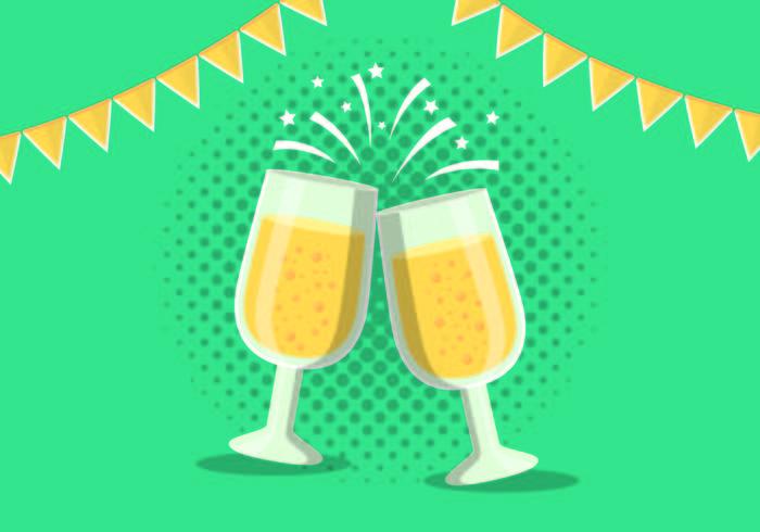 Champagne toast illustratie