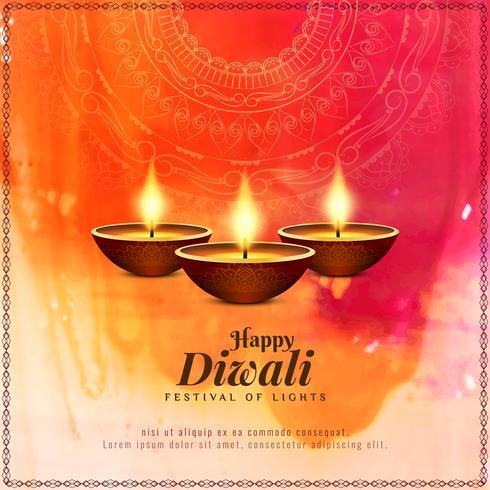 Abstracte gelukkige Diwali mooie religieuze achtergrond
