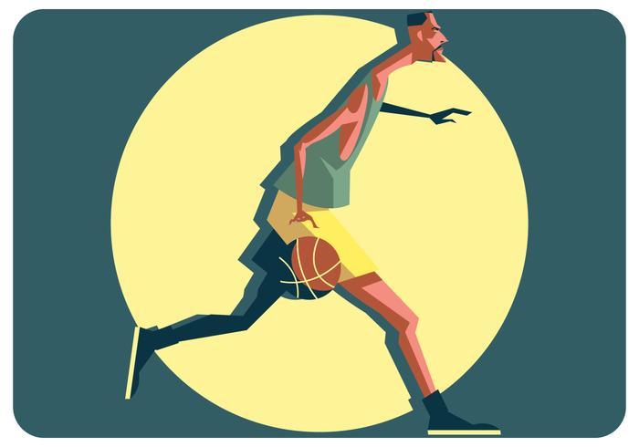 Basketbalspeler Vector