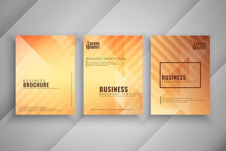 Conjunto de brochura de negócios geométricas abstratas
