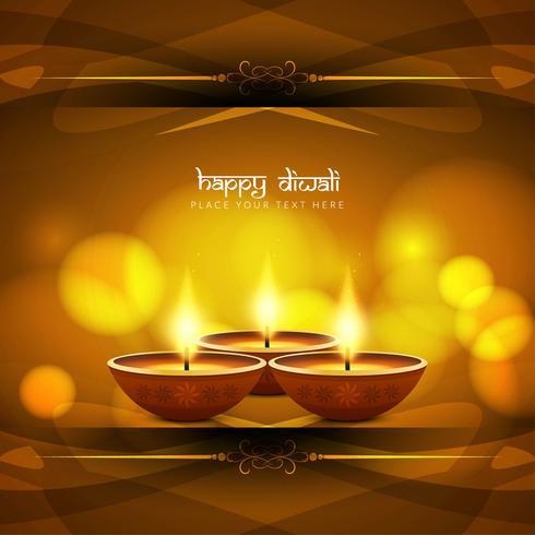 Abstracte gelukkige Diwali stijlvolle achtergrond
