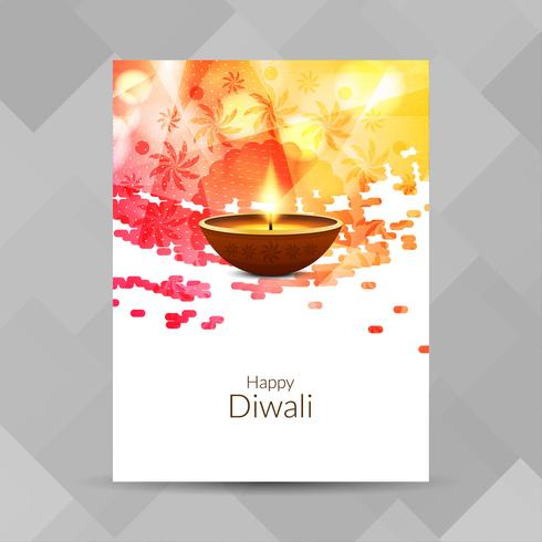 Abstracte Happy Diwali brochure ontwerpsjabloon vector