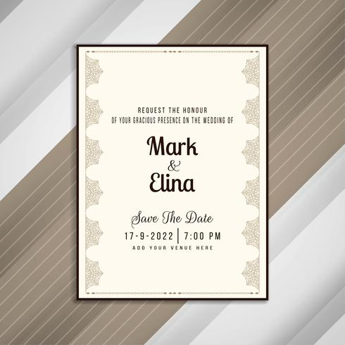 Abstract Elegant Wedding Invitation Card Design Download