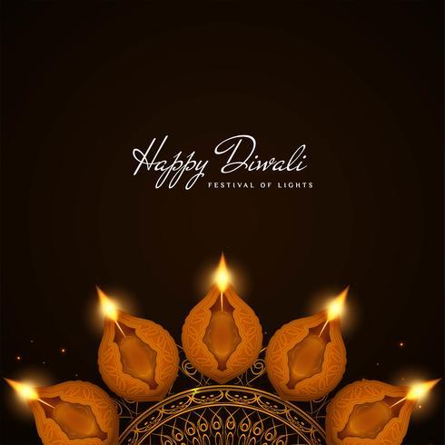 Abstracte elegante Gelukkige Diwali-godsdienstige achtergrond