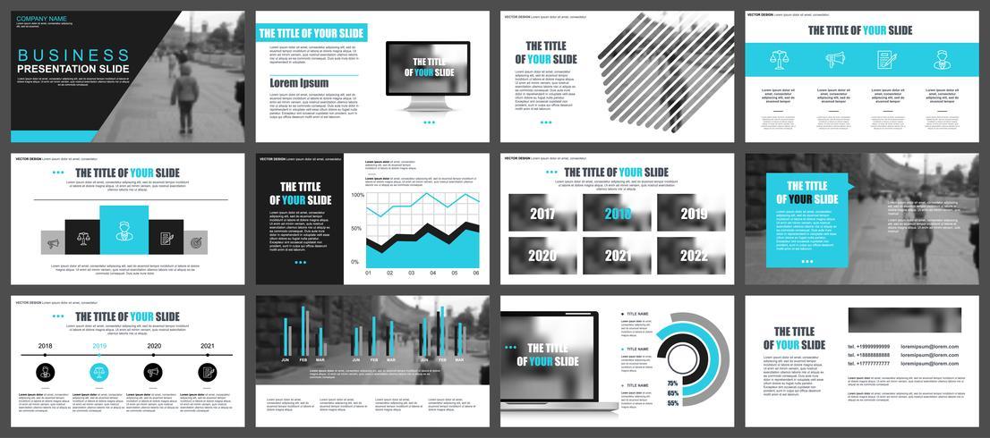 Bedrijfspresentatie schuift sjablonen van infographic elementen. Kan worden gebruikt voor presentatie, flyer en folder, brochure, bedrijfsrapport, marketing, reclame, jaarverslag, banner, boekje.