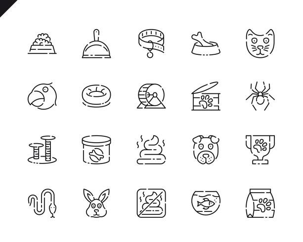 Simple Set Pen and Animal Line Icons for Website and Mobile Apps.
