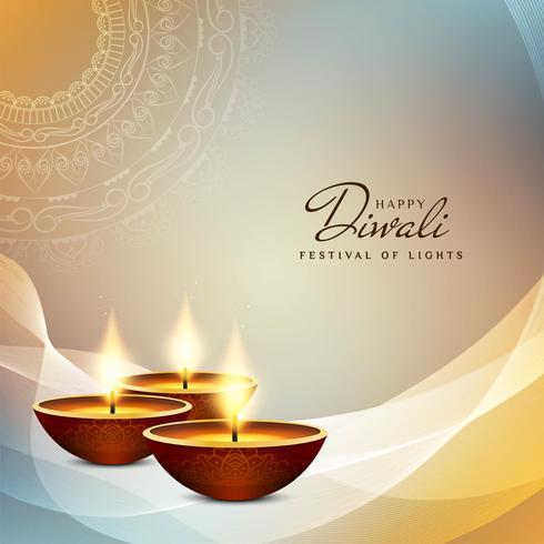 Abstracte decoratieve Gelukkige Diwali-achtergrond