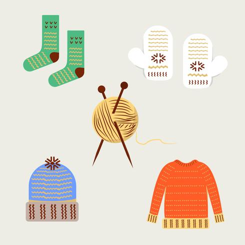 Vêtements de laine vecteur