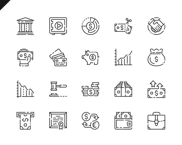 Simple Set Finance Line Icons for Website and Mobile Apps.