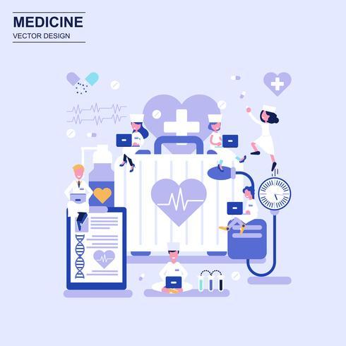 Medicine and healthcare flat design concept