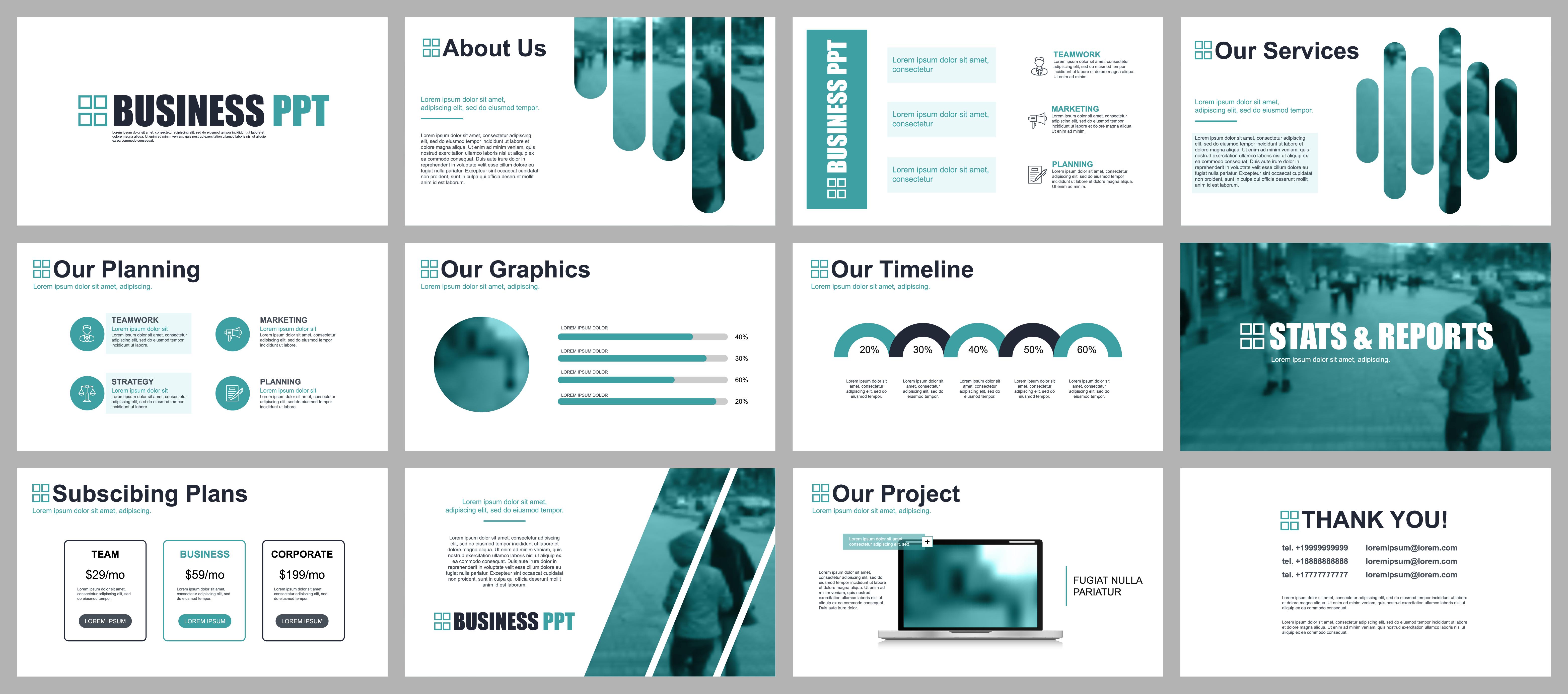 Slide Presentation Powerpoint Template