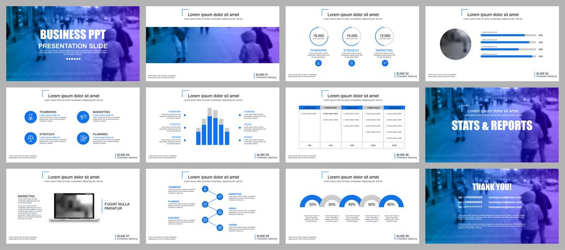 Business presentation powerpoint slides templates - Download