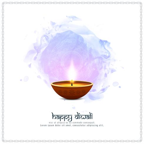 Abstract Happy Diwali artistic background vector