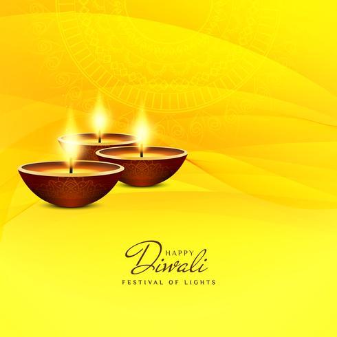 Abstrakt vacker Glad Diwali festival hälsning bakgrund vektor