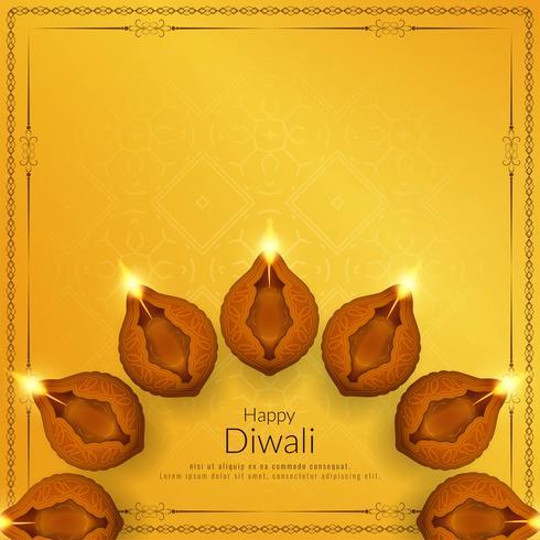 Abstract elegant Happy Diwali religious background vector