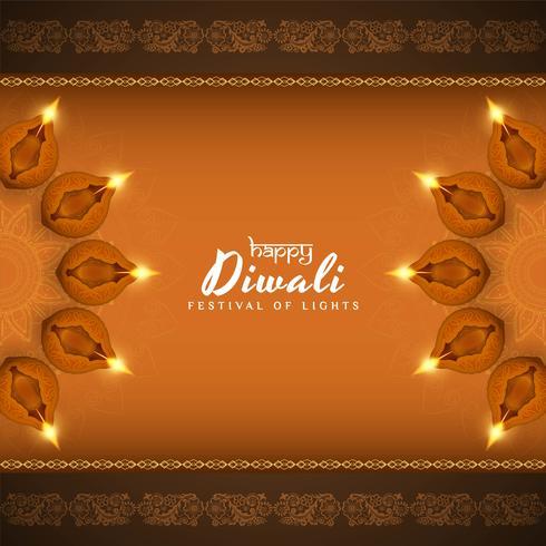 Abstrait joyeux Diwali beau fond décoratif vecteur