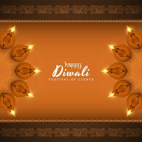 Fundo decorativo bonito feliz abstrato de Diwali vetor