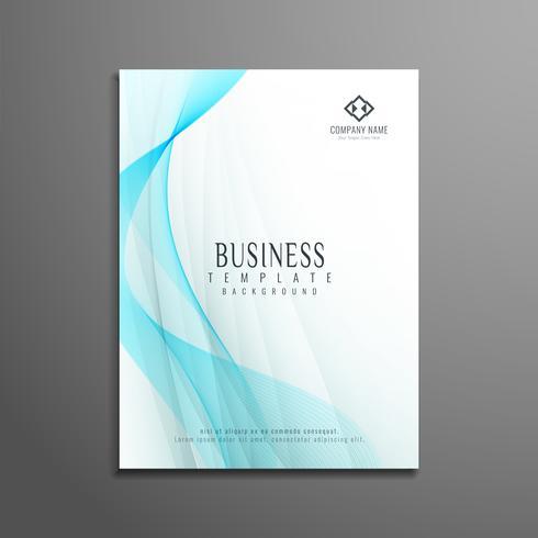 Diseño abstracto de la onda del diseño de la plantilla del aviador del negocio