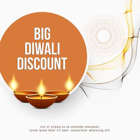 Abstracte Gelukkige Diwali-achtergrond van de kortingsaanbieding